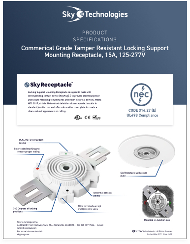 check out skyplug-receptacle-specsheet